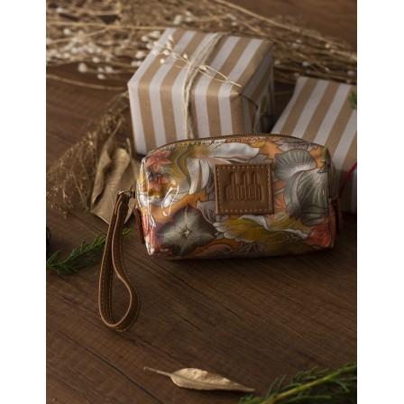 Orange flower makeup bag...