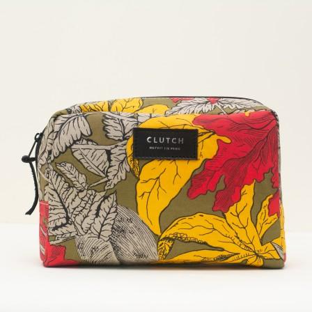 Medium Leaves Makeup Bag